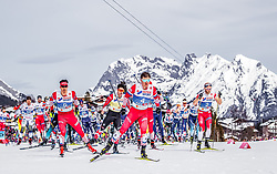 03.03.2019, Seefeld, AUT, FIS Weltmeisterschaften Ski Nordisch, Seefeld 2019, Langlauf, Herren, 50 km Massenstart, im Bild Andrey Melnichenko (RUS) // Andrey Melnichenko of Russian Federation during the men's cross country 50 km mass start competition of FIS Nordic Ski World Championships 2019. Seefeld, Austria on 2019/03/03. EXPA Pictures © 2019, PhotoCredit: EXPA/ JFK