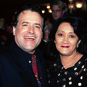 Nieuwjaarsreceptie Strengholt 1997,George Baker en zijn vrouw Blanche ( Hans Bouwens )