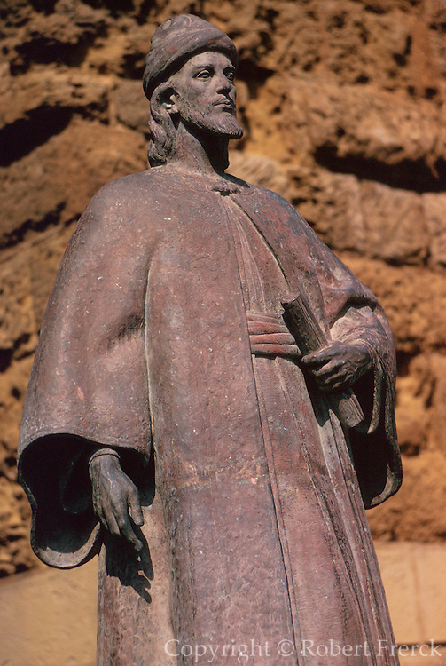 SPAIN, ANDALUSIA, CORDOBA Statue of Ibn Hazm, a 10thC Muslim philosopher