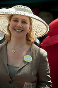MRS GEORGE PISKOVA,  Lunch part hosted by Liz Brewer and Mrs. George Piskova in No; 1 car-park. Royal Ascot. Tuesday. 14 June 2011. <br /> <br />  , -DO NOT ARCHIVE-© Copyright Photograph by Dafydd Jones. 248 Clapham Rd. London SW9 0PZ. Tel 0207 820 0771. www.dafjones.com.