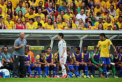 O técnico Luiz Felipe Scolari durante a partida contra o Japão, válida pela primeira rodada da Copa das Confederações, no Estádio Nacional Mané Garrincha, em Brasília. FOTO: Jefferson Bernardes/Preview.com