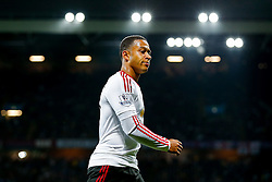 Memphis Depay of Manchester United looks on - Mandatory byline: Rogan Thomson/JMP - 07966 386802 - 14/08/2015 - FOOTBALL - Villa Park Stadium - Birmingham, England - Aston Villa v Manchester United - Barclays Premier League.