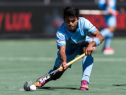 Vivek Prasad of India during the Champions Trophy finale between the Australia and India on the fields of BH&BC Breda on Juli 1, 2018 in Breda, the Netherlands.
