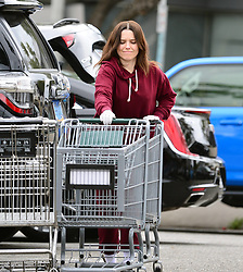 EXCLUSIVE: Sophia Bush makes safety a priority as she leaves her local whole foods with a cart full of groceries amid COVID-19 crisis!. 16 Mar 2020 Pictured: Sophia Bush. Photo credit: MEGA TheMegaAgency.com +1 888 505 6342