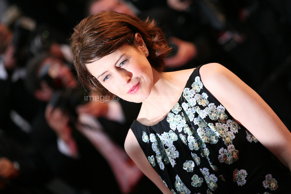 Actress Gina McKee at the red carpet for the gala screening of Jimmy P. Psychotherapy of a Plains Indian film at the Cannes Film Festival 18th May 2013