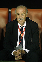 08.09.2014, Estadi Ciutat de Valencia, Valencia, ESP, UEFA Euro 2016 Qualifikation, Spanien vs Mazedonien, Gruppe C, im Bild Spain's coach Vicente Del Bosque // during the UEFA EURO 2016 Qualifier group D match between Spain and Macedonia at the Estadi Ciutat de Valencia in Valencia, Spain on 2014/09/08. <br /> <br /> *** NETHERLANDS ONLY ***