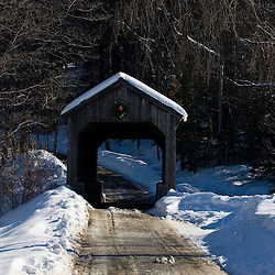 The Kidder Hill covered bridge in Grafton, Vermont.