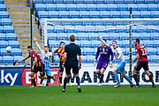 Coventry City players claim handball against Bradford City defender Anthony McMahon (29)  during the EFL Sky Bet League 1 match between Coventry City and Bradford City at the Ricoh Arena, Coventry, England on 11 March 2017. Photo by Simon Davies.