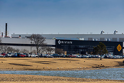 Rivian automotive car manufacturing plant in Normal Il