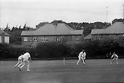 18/07/1970<br /> 07/18/1970<br /> 18 July 1970<br /> Cricket: Clontarf 1st XI v Old Belvedere, Leinster Senior Cup Final at Clontarf Cricket Club, Castle Avenue, Dublin. Frank O'Hanlon (centre), Old Belvedere, batting.
