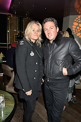 PIP GILL and DAVE GARDNER at the Fashion Targets Breast Cancer 20th Anniversary Party held at 100 Wardour Street, Soho, London on 12th April 2016.
