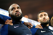 France's forward Alexandre Lacazette reacts during the FIFA World Cup Russia 2018, Qualifying Group A football match between France and Netherlands on August 31, 2017 at the Stade de France in Saint-Denis, north of Paris, France - Photo Benjamin Cremel / ProSportsImages / DPPI