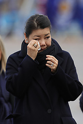 Aimon Srivaddhanaprabha, the wife of Leicester City owner Vichai Srivaddhanaprabha, views the tribute site near to Leicester City Football ClubÕs King Power Stadium, ahead of a visit by the Duke and Duchess of Cambridge to pay tribute to those who were killed in the helicopter crash last month.