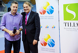 Zoran Kofol, PR of Polona Hercog and Marko Umberger, president of TZS at Tennis exhibition day and Slovenian Tennis personality of the year 2013 annual awards presented by Slovene Tennis Association TZS, on December 21, 2013 in BTC City, TC Millenium, Ljubljana, Slovenia.  Photo by Vid Ponikvar / Sportida