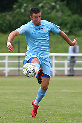 June 9, 2018 - London, England, United Kingdom - Szilard Magyari of Szekely Land .during Conifa Paddy Power World Football Cup 2018 Bronze Medal Match Third Place Play-Off between Padania v Szekely Land at Queen Elizabeth II Stadium (Enfield Town FC), London, on 09 June 2018  (Credit Image: © Kieran Galvin/NurPhoto via ZUMA Press)