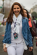 Ashley Judd arrives at the Women's March on Washington