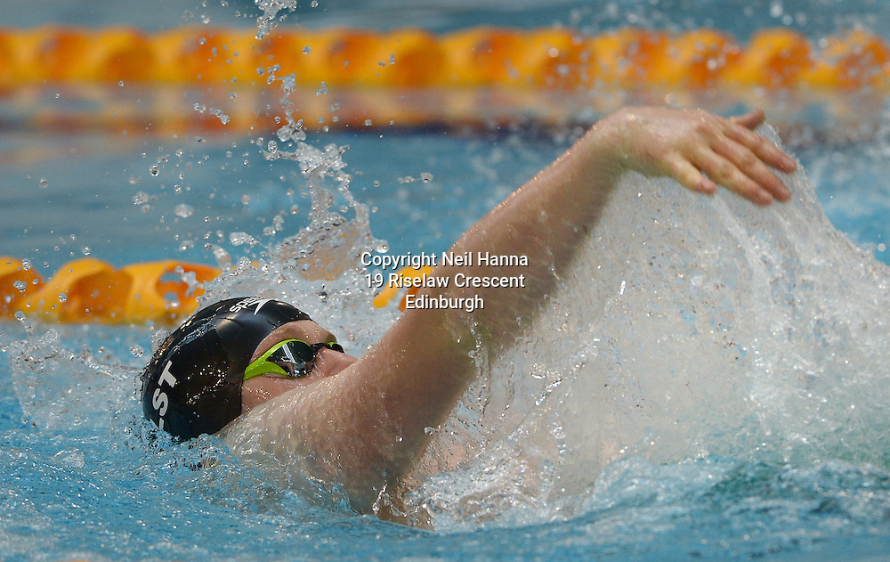 British Para-Swimming International Meet 2016, Tollcross Swimming Centre, Glasgow.<br /> <br /> Event 202 Mens MC 100m Backstroke <br /> <br /> Christian Buchanan<br /> <br />  Neil Hanna Photography<br /> www.neilhannaphotography.co.uk<br /> 07702 246823