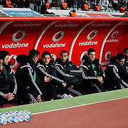 Besiktas's players during their Turkish superleague soccer match Besiktas between Fenerbahce at Ataturk Olimpiyat Stadium in Istanbul Turkey on Sunday 02 November 2014. Photo by Aykut AKICI/TURKPIX