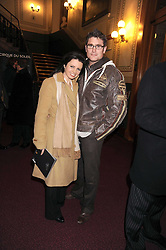Dancer KAREN HARDY and her husband CONRAD MURRAY at the Cirque du Soleil's gala premier of Quidam held at the Royal Albert Hall, London on 6th January 2009
