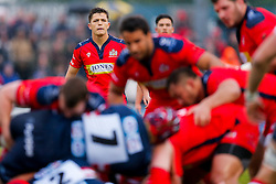 Bristol Rugby Fly-Half Callum Sheedy looks on - Mandatory byline: Rogan Thomson/JMP - 18/05/2016 - RUGBY UNION - Castle Park - Doncaster, England - Doncaster Knights v Bristol Rugby - Greene King IPA Championship Play Off FINAL 1st Leg.