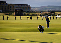Golf - 2021 Alfred Dunhill Links Championship - Day Four - The Old Course at St Andrew's - Day Four -  Sunday 3rd October 2021<br /> <br /> Danny Willett lines up a putt on the 18th<br /> <br /> Credit: COLORSPORT/Bruce White