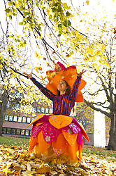 Pictured: Liberty Bramall<br /> <br /> Outfits adorned with bells, lights and mirrors are among the designs by University of Edinburgh students which are to feature at events marking the Indian festival of Diwali this weekend<br /> (c) Ger Harley | Edinburgh Elite media
