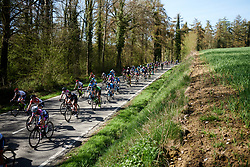 Emilia Fahlin (SWE) in the bunch at La Flèche Wallonne Femmes 2018, a 118.5 km road race starting and finishing in Huy on April 18, 2018. Photo by Sean Robinson/Velofocus.com