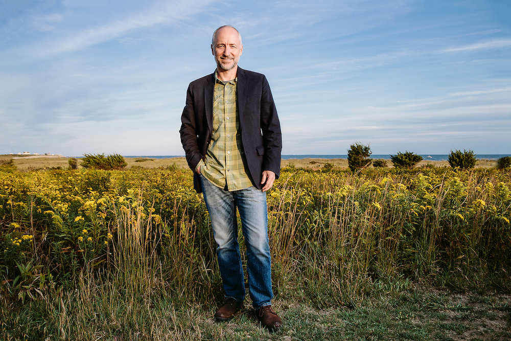 Terry Sullivan, Rhode Island State Director, The Nature Conservancy. Photographed on September 25, 2015 at Goosewing Beach Preserve in Little Compton, RI. (Photo by Cat Laine)