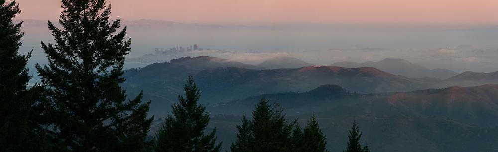 San Francisco from the Summit of Mount Tamalpais. Marin County, CA.