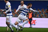 GOAL QPR Midfielder SAM Field(15) scores a goal 1-1 and celebrates during the EFL Sky Bet Championship match between Queens Park Rangers and Brentford at the Kiyan Prince Foundation Stadium, London, England on 17 February 2021.