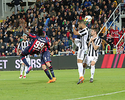 April 18, 2018 - Crotone, Calabria, Italy - Nwankwo Simy of Crotone scores the equalizing goal during the serie A match between FC Crotone and Juventus at Stadio Comunale Ezio Scida on April 18, 2018 in Crotone, Italy. (Credit Image: © Gabriele Maricchiolo/NurPhoto via ZUMA Press)