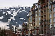 The Pan Pacific Hotel, Whistler Village, host of the 2010 Vancouver Winter Olympics, Whistler, British Columbia, Canada.