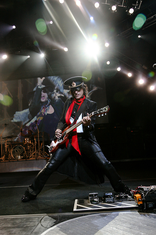 Guitarist Joe Perry on stage with Aerosmith in Mansfield.