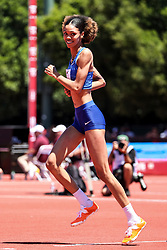 Vashti Cunningham, USA, reacts happily to clearing 2.00 meters for first time <br /> 2019 The Prefontaine Classic Track & Field<br /> IAAF Diamond League
