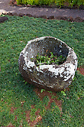 Stone bowl, Kukuiolono Park and Golf Course, Kalaheo, Kauai, Hawaii