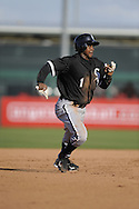 TEMPE, AZ - MARCH 4:  Juan Pierre #1 of the Chicago White Sox runs the bases against the Los Angeles Angels on March 4, 2010 at Tempe Diablo Stadium in Tempe, Arizona. (Photo by Ron Vesely)