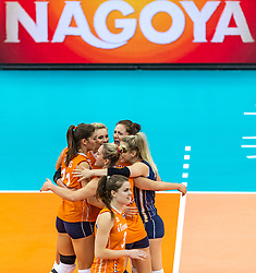 07-10-2018 JPN: World Championship Volleyball Women day 8, Nagoya<br /> Netherlands - Puerto Rico 3-0 / Yvon Belien #3 of Netherlands, Yvon Belien #3 of Netherlands, Laura Dijkema #14 of Netherlands