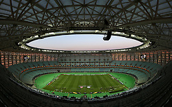 A general view from the top of the main stand ahead of the match during the UEFA Europa League final at The Olympic Stadium, Baku, Azerbaijan.