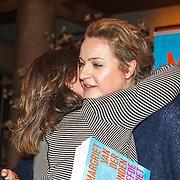 NLD/Amsterdam/20151027 - Boekpresentatie Margriet van der Linden - De Liefde Niet, Margriet en partner Kitty Kooring