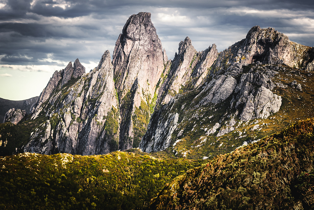Federation Peak in Eastern Arthurs Range, Tasmania