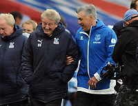 Football - 2020 / 2021 Premier League - Crystal Palace vs Everton<br /> <br /> Everton Manager,Carlo Ancelotti  share a laugh at the final whistle at Selhurst Park<br /> <br /> COLORTSPORT/ANDREW COWIE