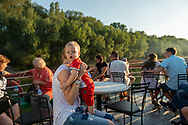 Passengers aboard a one-hour cruise on the Dniester River in Tiraspol, Transnistria.<br /> <br /> (September 10, 2016)