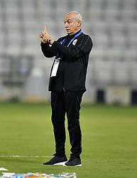 DOHA , Oct. 03, 2018  Al-Sadd's head coach Jesualdo Ferreira of Portugal is seen during the AFC Asian Champions League semi-finals first leg football match between Qatar's Al Sadd and Iran's Persepolis FC at Jassim Bin Hamad Stadium Doha, Qatar, on Oct. 2, 2018. Persepolis FC won 1-0. (Credit Image: © Nikku/Xinhua via ZUMA Wire)