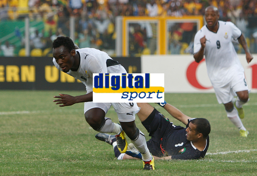 Photo: Steve Bond/Richard Lane Photography.<br /> Ghana v Morocco. Africa Cup of Nations. 28/01/2008. Michael Essien wheels away as the ball enters the net