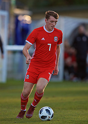 BANGOR, WALES - Saturday, November 17, 2018: Wales' Luke Jephcott during the UEFA Under-19 Championship 2019 Qualifying Group 4 match between Sweden and Wales at the Nantporth Stadium. (Pic by Paul Greenwood/Propaganda)