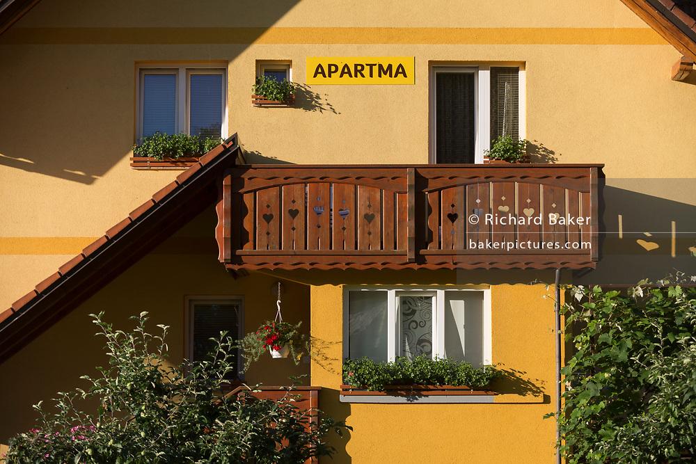 A holiday apartment in a rural Slovenian village, on 19th June 2018, in Bohinjska Bela, Bled, Slovenia.