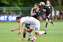 Luka Volaric of NK Krsko and Alen Kozar of NS Mura during football match between NS Mura and NK Krsko in 5th Round of Prva liga Telekom Slovenije 2018/19, on August 19, 2018 in Mestni stadion Fazanerija, Murska Sobota, Slovenia. Photo by Mario Horvat / Sportida
