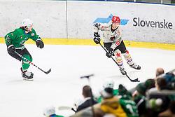 Players during Ice Hockey match between HK SZ Olimpija Ljubljana and HDD Jesenice in Round #24 of Alps Hockey League, on December 22, 2018 in Hala Tivoli, Ljubljana, Slovenia. Photo by Ziga Zupan / Sportida
