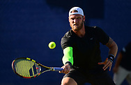 Sam Groth (AUS  )in action during his match against Brydan Klein (GBR). The Aegon Open Nottingham 2017, international tennis tournament at the Nottingham tennis centre in Nottingham, Notts , day 4 on Thursday 15th June 2017.<br /> pic by Bradley Collyer, Andrew Orchard sports photography.