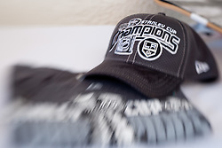 LA Kings Champions cap and t-shirt at Anze's Eleven and Triglav Charity Golf Tournament, on June 30, 2012 in Golf court Bled, Slovenia. (Photo by Matic Klansek Velej / Sportida)